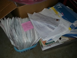 Old paperwork needing to be filed? Yep. One day.